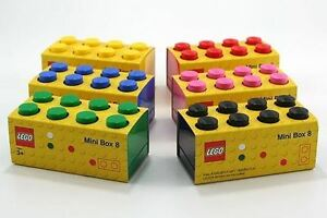 Image Is Loading Mini Lego Storage 8 Brick 6 Colours Kids