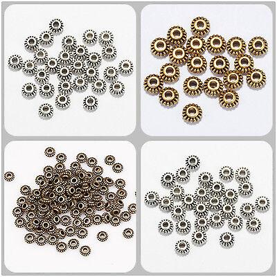 Perles intercalaire spacer /_ Fleur argenté 6x6x3.5mm /_ Apprêts créat bijoux A079