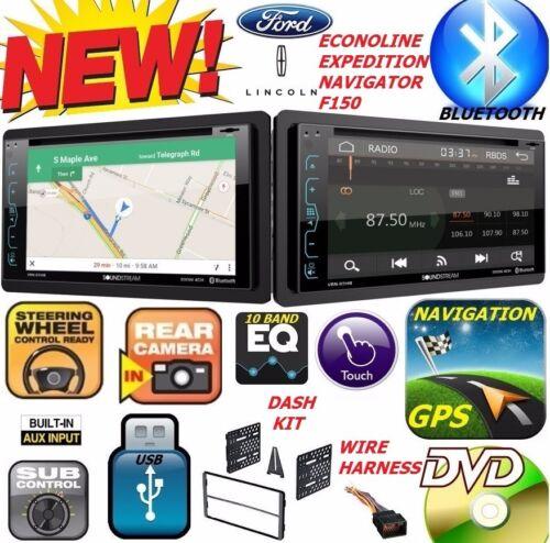 F150 NAVIGATOR EXPEDITION ECONOLINE VAN NAVIGATION Bluetooth CD Car Stereo Radio