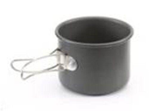 Gelert 8oz Camping Hiking Flask Durable Anodised Mug Cup