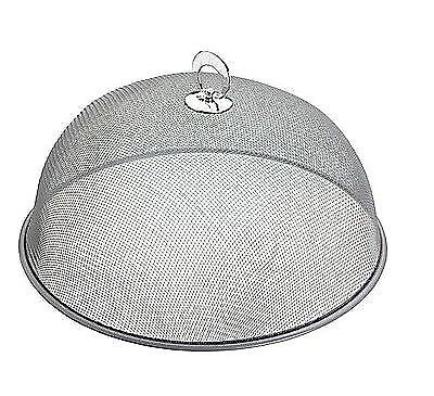 High Quality assorted colours 2x 28cm ROUND DOME MESH FOOD COVER