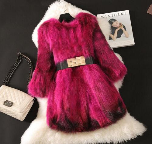 Parka Belt Outwear Winter Warm Trench Fur 3xl Jacket Coat Donna S Furry Luxury F16qHg