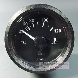VDO TEMPERATUR ANZEIGER 120°  KÜHLWASSER INSTRUMENT GAUGE 12V LED cassic schwarz