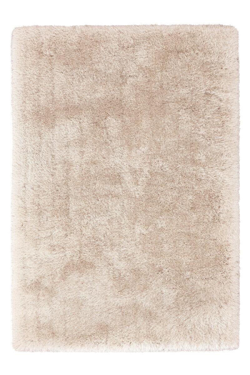 D'un épais Shaggy faits à la Main Doux Tapis Douillet Ivoire Beige 160x230cm