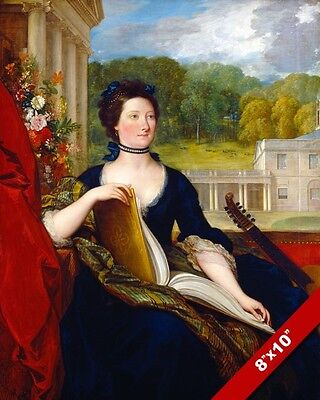 PALE WHITE ENGLISH NOBLE WOMAN BRITISH HISTORY PAINTING ART REAL CANVAS PRINT