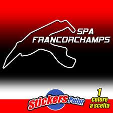 ADESIVO PVC circuito SPA - FRANCORCHAMPS  auto moto sticker track pista