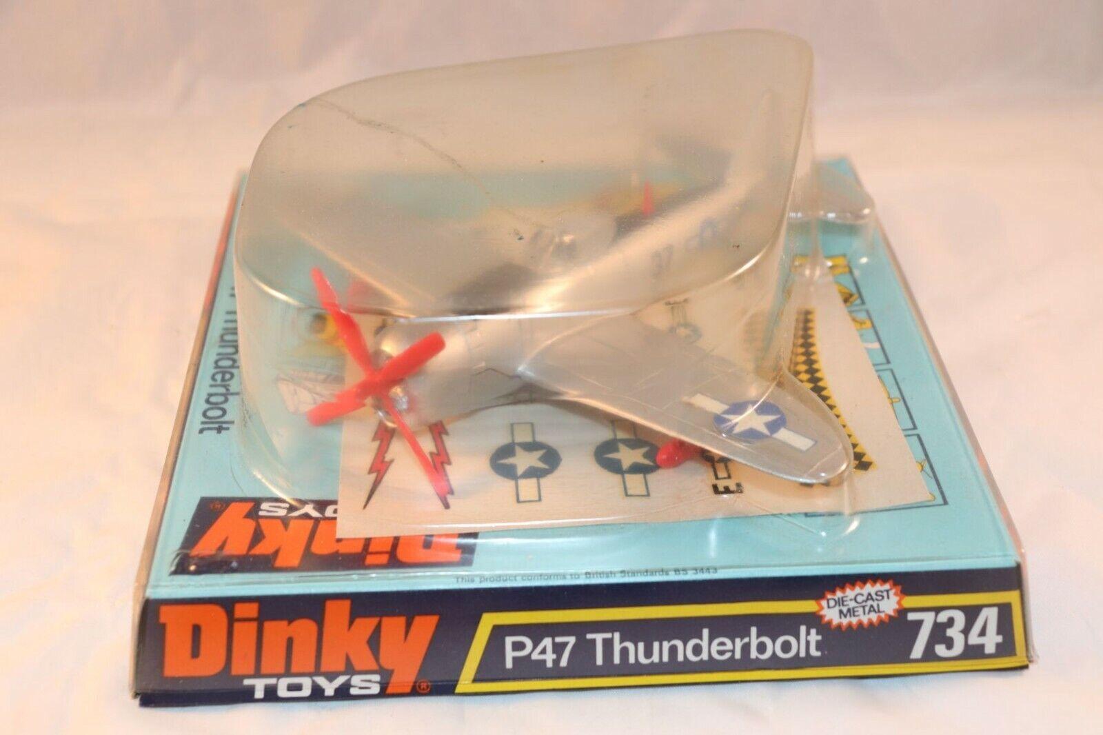 箱の中のDinkyおもちゃ734 P 47サンダーボルトミント