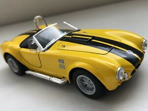 YELLOW 1965 /'65 SHELBY COBRA 427 S//C Vehicle Diecast 1//32 Pull Back Sportscar
