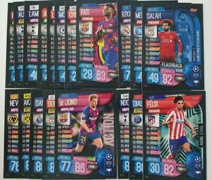 2020-UEFA-Champions-League-Soccer-Cards-Match-Attax-Extra-Lot-of-20-cards