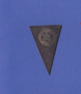 c1910 L51 tobacco leather pennant shaped TRINITY COLLEGE