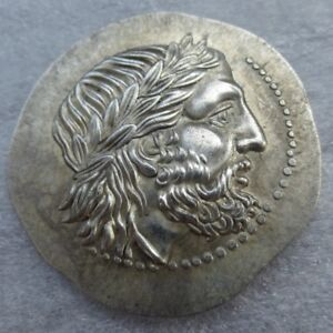 Ancient-Greek-King-Philip-II-Rare-Silver-Token-Tetradrachm-Of-Macedon-323-BC