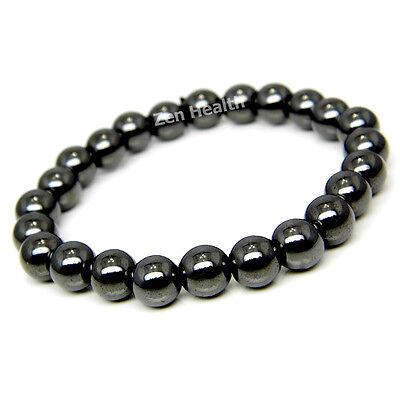 NATURAL Hematite Magnetic Healing Bracelet For Stress / Pain / Arthritis