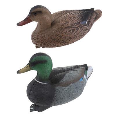 Pool Floating Ducks 37cm Female Duck Mallard Toy Pond Ornament Plastic Decoy