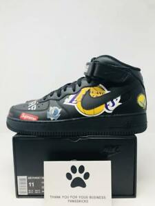 Details about Supreme x NBA x Nike Air Force 1 Mid '07 'Black' AQ8017 001 Size 11