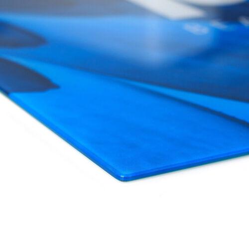 Glas-Herdabdeckplatte Ceranfeldabdeckung Zweiteilig 2x30x52 Bunte Wellen