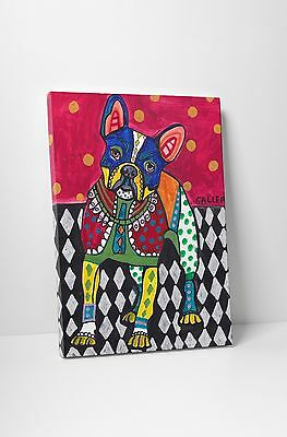 """Heather Galler French Bulldog Dog Gallery Wrapped Canvas 16/""""x20/"""""""