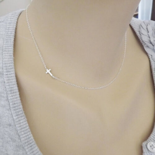 Lady fashion cross necklace chic small cross pendant necklace necklace J Io