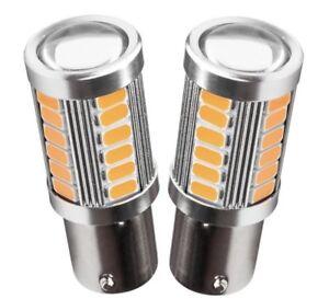 BOMBILLAS-LED-CAN-BUS-P21W-1156-BAU15S-NARANJA-AMBAR-INTERMITENTE-33-SMD