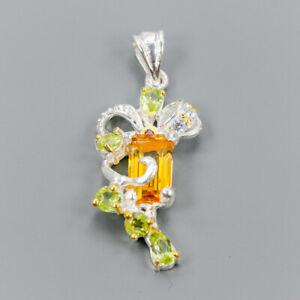 Handmade-Natural-Citrine-Quartz-925-Sterling-Silver-Pendant-NP08606