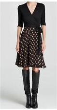 Diane von Furstenberg DVF Gladyss Black Leather Knee High Boots 10