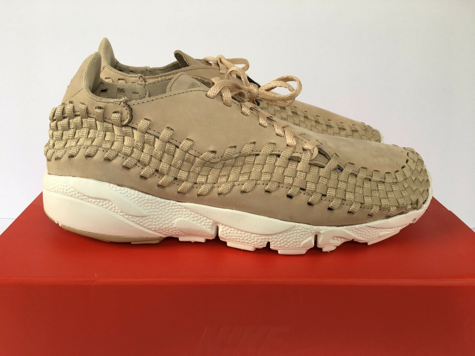 Men Nike NikeLab Air Footscape Woven NM Sz 10.5 Linen Sail Tan New 874892-200