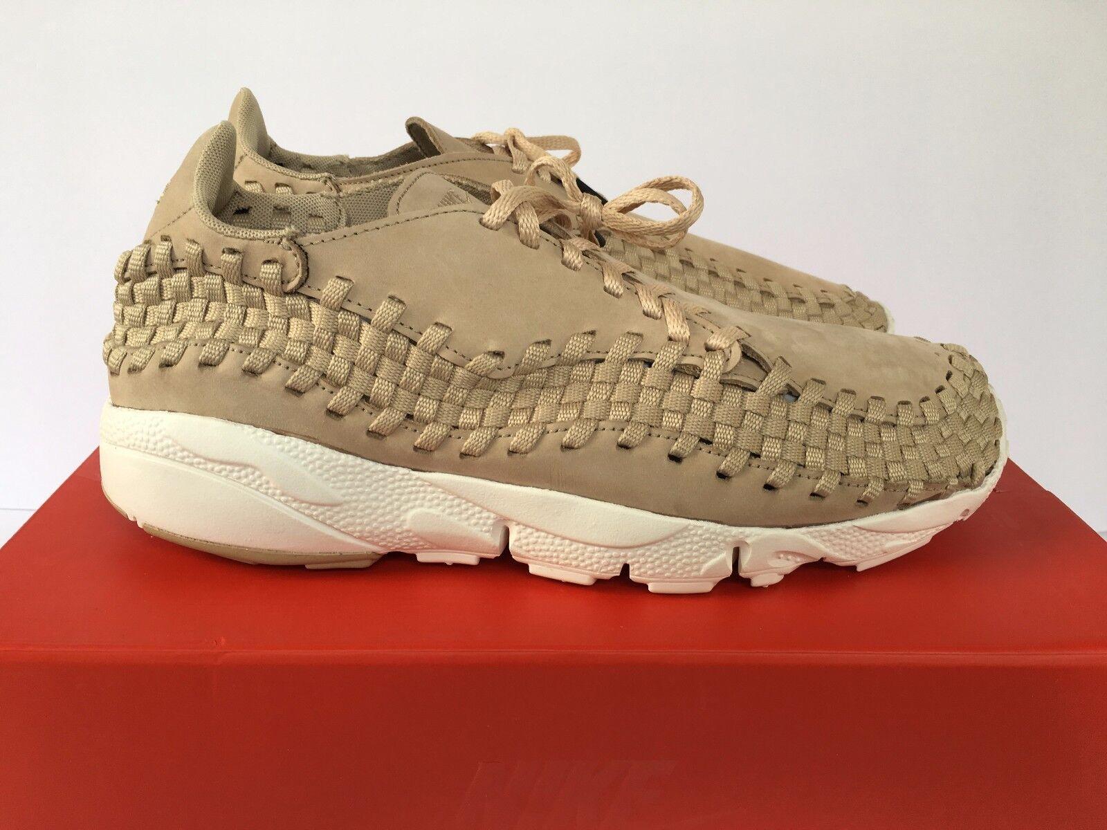 Men Nike NikeLab Air Footscape Woven NM Sz 10.5 Linen Sail Tan New 874892-200 Cheap and beautiful fashion