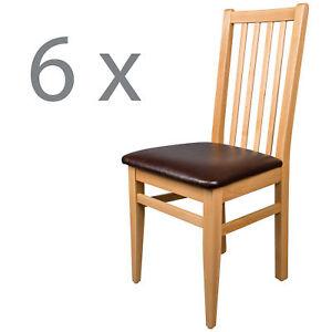 6er schwarzwald massivholz esszimmerstuhl holzstuhl massiv buche natur braun ebay. Black Bedroom Furniture Sets. Home Design Ideas