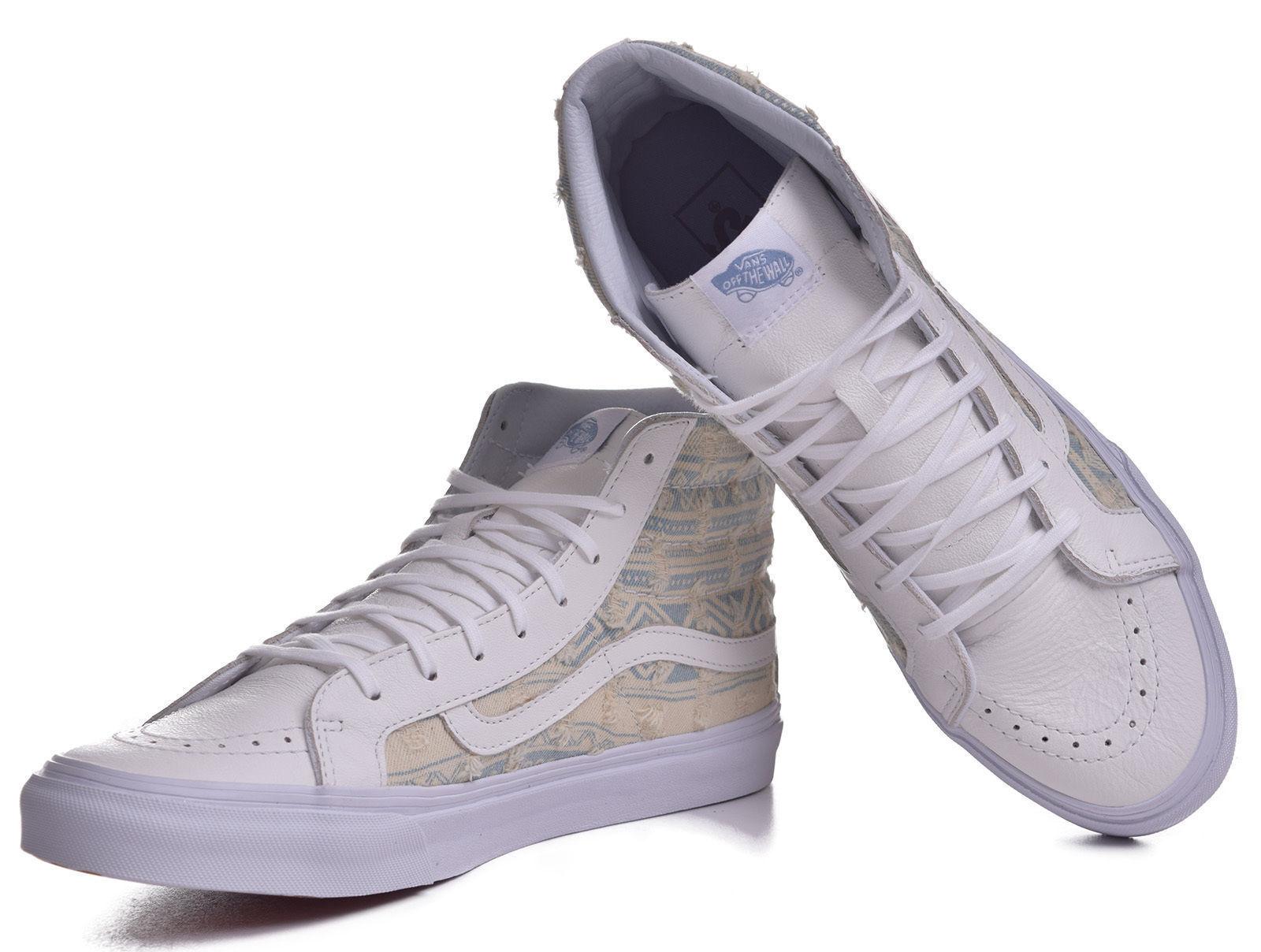 Furgoni sk8 hi slim logorato nativo vero scarpe uomini bianche uomini scarpe a 4.5 donne 6 58dd8e