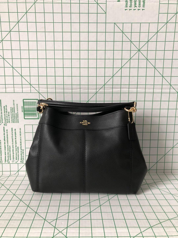 8d04d6b83664 Coach F28992 Pebbled Leather Small Lexy Shoulder Bag Black Crossbody ...