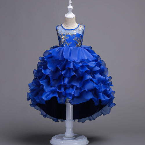 Kids Girl Princess Dress Party Birthday Pageant Wedding Formal Kids Tutu Dresses