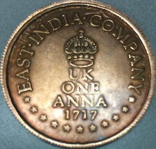 East India Company,UK 1 Anna,1717,Cu Temple Token, with * Shri Lakshmi & Others*