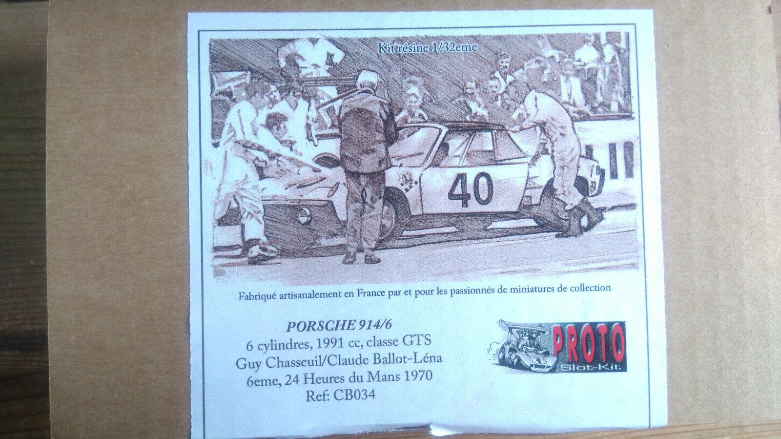 Proto Slot Kit-Porsche 914/6 (Inc RouleHommes t) - - - Le Femmes 1970 - 1:32 - New cea316