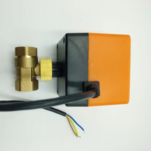 "Motorized Ball Valve G1//2/"" DN15 DC24V Brass 2 Way CR02 Electrical Valve"