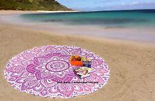 Indian redonda Mandala colgar de la pared playa de Boho del tiro Tapiz Toalla