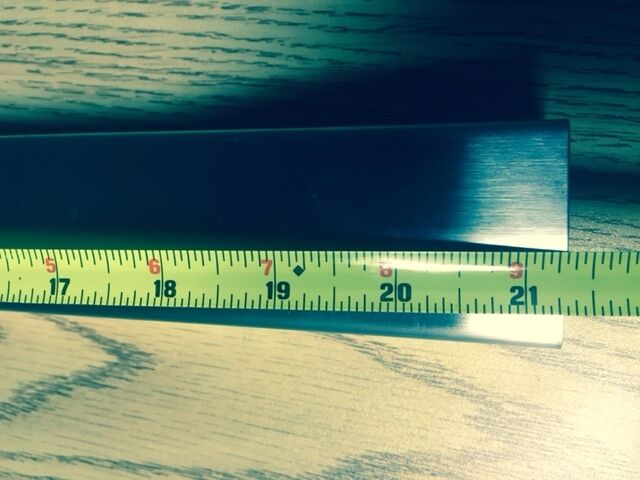 """GREAT PRICE! Fryer Joiner Strip for 75 LB fryers-Strip is 23.5/"""" long  x 2/"""" wide"""