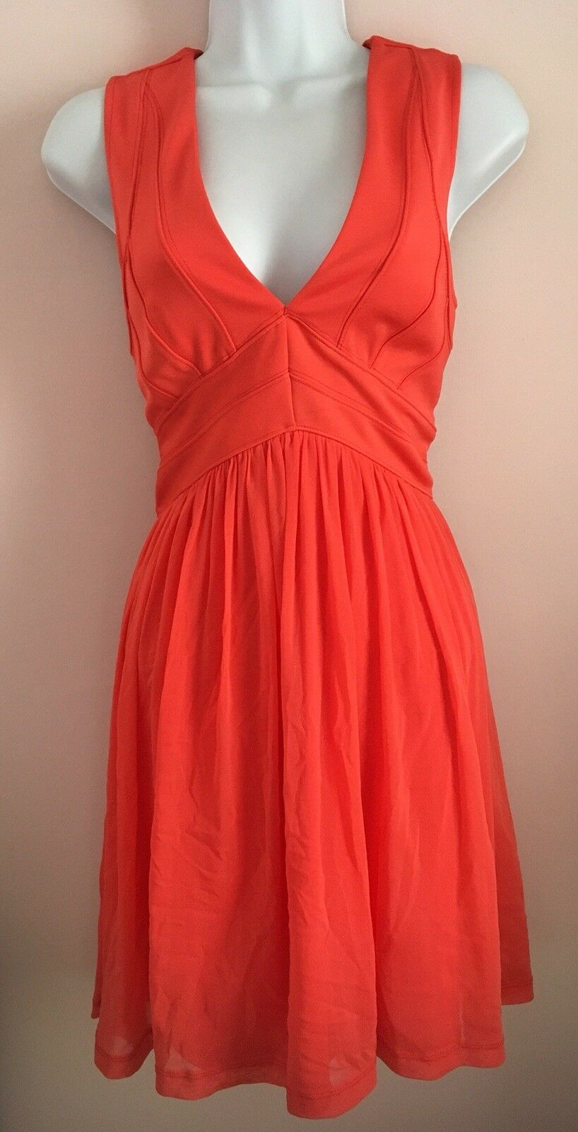 New With tags Topshop Coral Pink Summer Prom Dress Size 10 Rrp