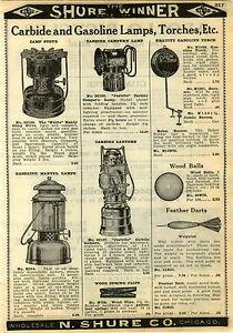 1924 Paper Ad Justrite Miners Carbide Gas Gasoline