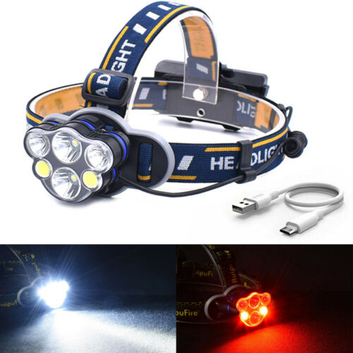 100000LM T6 LED Headlamp Headlight Torch Rechargeable Flashlight 18650 Camping