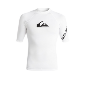All-Time-Lycra-UPF-50-white-quiksilver-rashguard-EQYWR03006-boys-size-14-years