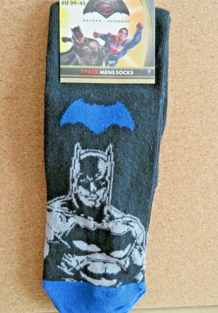 EU 39-45 Men/'s BATMAN v SUPERMAN Socks IN 3 Designs  UK 6-11