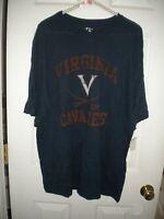 The Cotton Exchange Navy Short-sleeved T-shirt Orange Virginia Cavaliers Xl