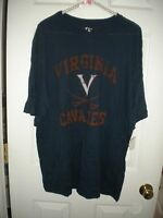 The Cotton Exchange Navy Short-sleeved T-shirt Orange Virginia Cavaliers Xl