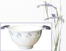 Corelle 5 Qt Plastic SHADOW IRIS Purple Floral COLANDER Pasta Vegetable STRAINER