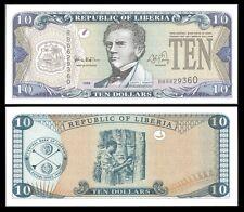 Liberia 10 DOLLARS 1999 P 22 UNC OFFER !