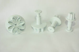 4-Small-Daisy-Marguerite-Plunger-Cutters-Cake-Decorating-Mothers-day-Easter