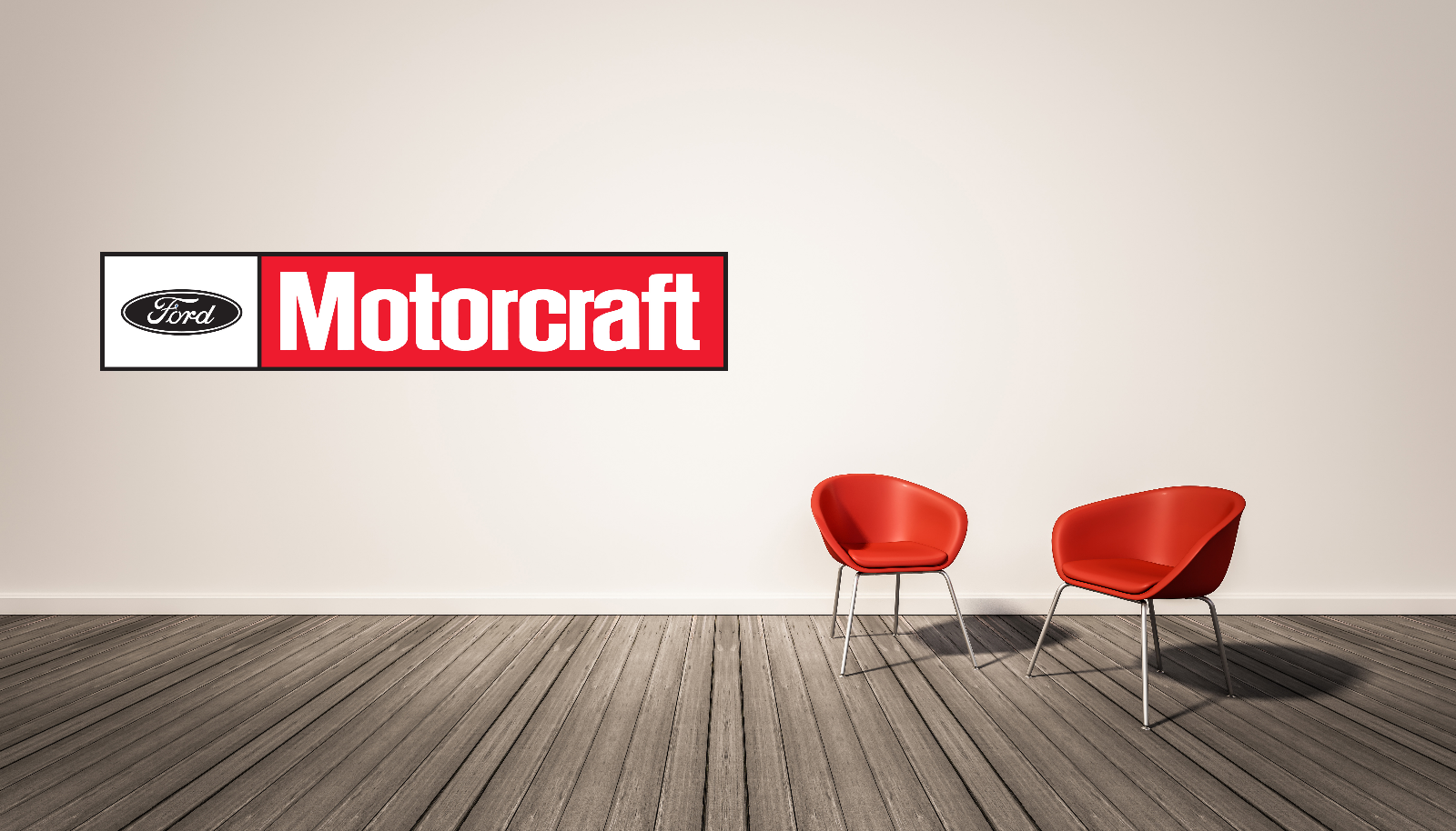 Ford Motorcraft Logo Wall Decal  Vinyl Racing Decor Room