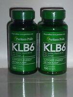Klb6 Kelp Lecithin Vitamin B-6 & Cider Vinegar Supplement 200 Softgels 2 Bottles