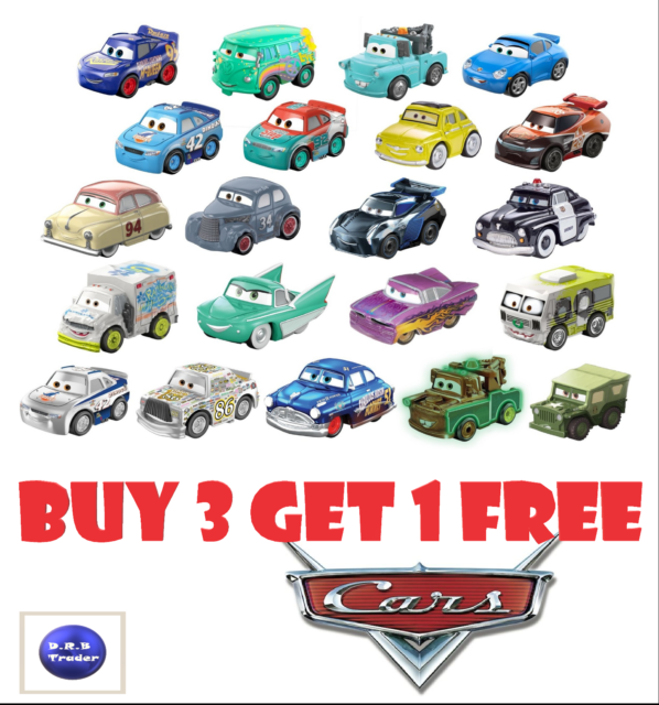 Multi Buy Discount Disney Pixar CARS 3 Mini Racers SEALED BRAND NEW Blind Bags