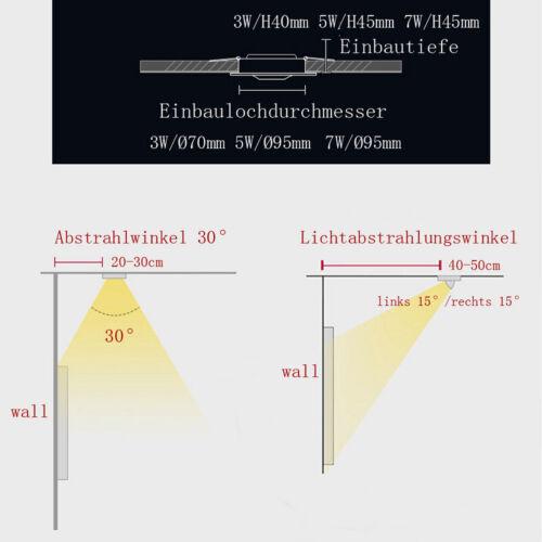 LED Einbaustrahler Dimmbar Einbauleuchte Einbau Strahler Deckenleuchte decken