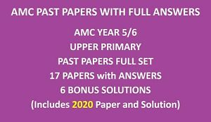 Year / Grade 5 and 6 Papers including 2020